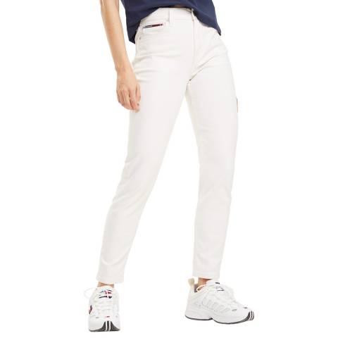 Tommy Hilfiger White Izzy Slim Stretch Jeans