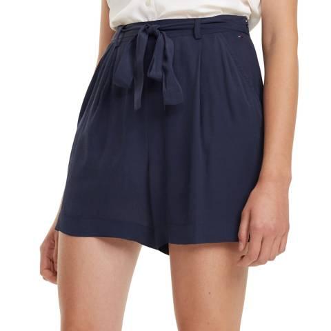 Tommy Hilfiger Navy Fluid Bow Shorts