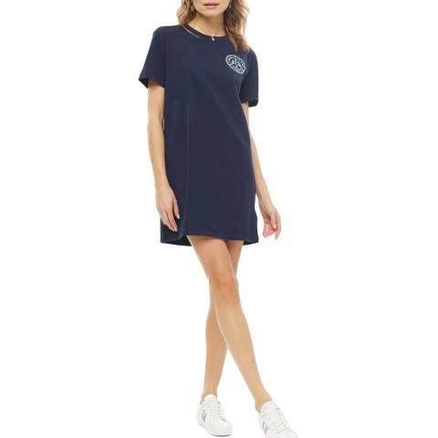 Tommy Hilfiger Navy Statement Cotton T-Shirt Dress