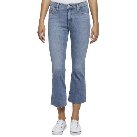 Tommy Hilfiger Blue Cropped Kick Flared Stretch Jeans