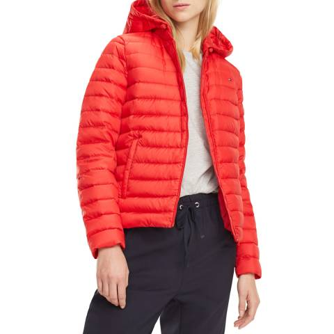 Tommy Hilfiger Red Classic Down Puffer Jacket