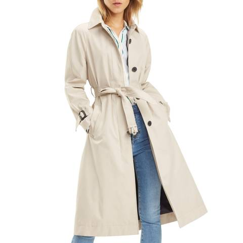 Tommy Hilfiger Beige Classic Cotton Trench Coat