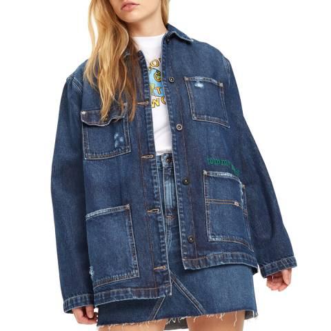 Tommy Hilfiger Dark Blue Workwear Cotton Denim Jacket