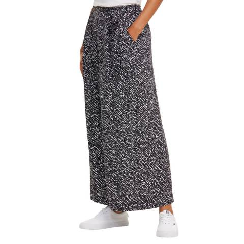 Tommy Hilfiger Black Dotty Fluid Trousers