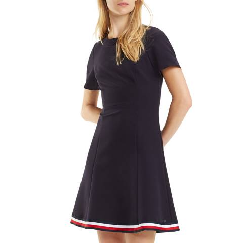 Tommy Hilfiger Navy Angela Stripe Dress
