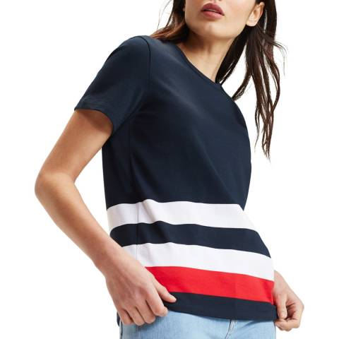 Tommy Hilfiger Navy Captain Bettie Cotton T-Shirt