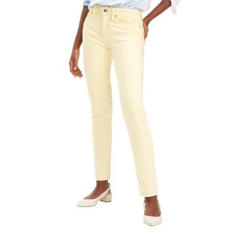 Tommy Hilfiger Light Yellow Venice Slim Stretch Jeans