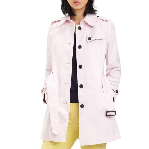 Tommy Hilfiger Lilac Belted Cotton Trench Coat