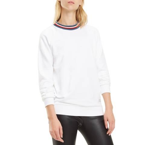 Tommy Hilfiger White Talita Cotton Blend Sweatshirt