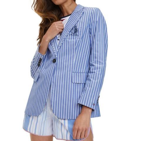 Tommy Hilfiger Blue Icon Stripe Cotton Blazer
