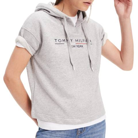 Tommy Hilfiger Grey Charlot Cotton Blend Hoodie