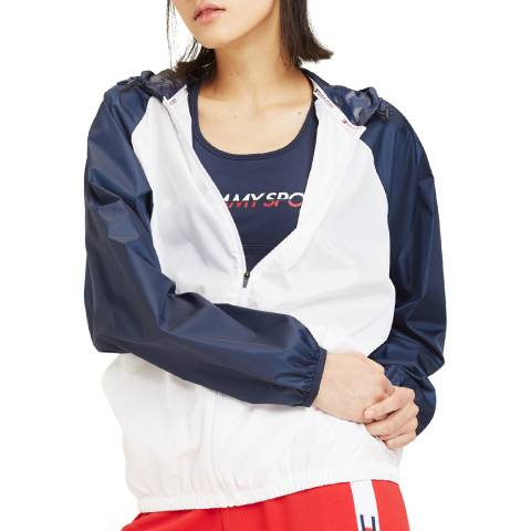 Tommy Hilfiger White Colour Blocked Windbreaker