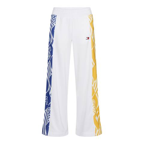 Tommy Hilfiger White Graphic Culotte Pants