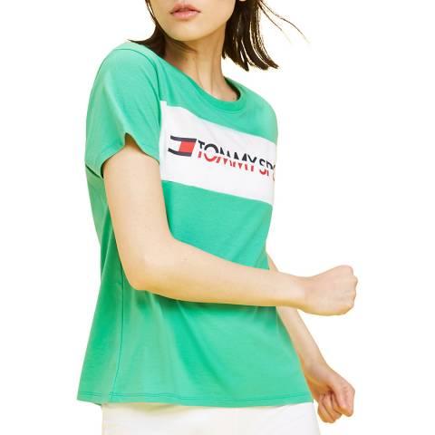 Tommy Hilfiger Mint Logo Print T Shirt