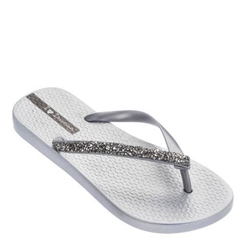 Ipanema Silver Glam Special Crystal Flip Flops
