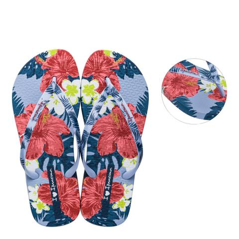 Ipanema Blue Hibiscus I Love Sun Flip Flops