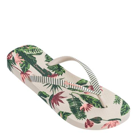 Ipanema Ivory Love Tropical Flip Flops