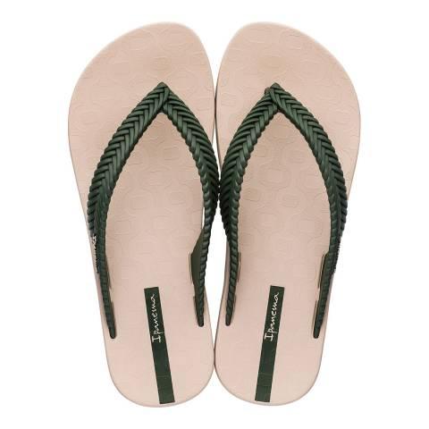 Ipanema Khaki Nature Weave Flip Flops