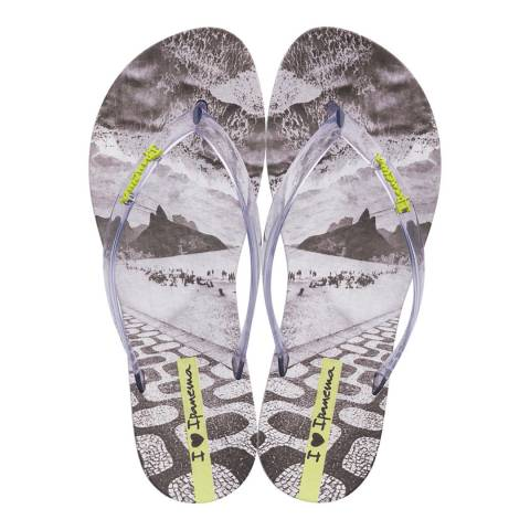 Ipanema Clear Wave Natural Flip Flops