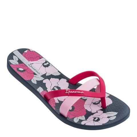 Ipanema Pink Floral Kirei Silk Flower Flip Flops
