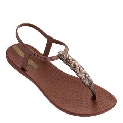 Ipanema Charm Sandal 21 Bronze Braid