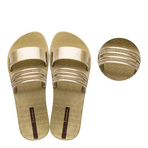 Ipanema Glam Slide Crystal Gold