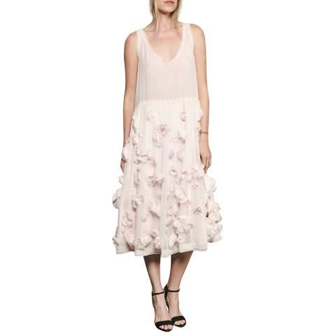 French Connection Pink Agnes Floral Applique Dress