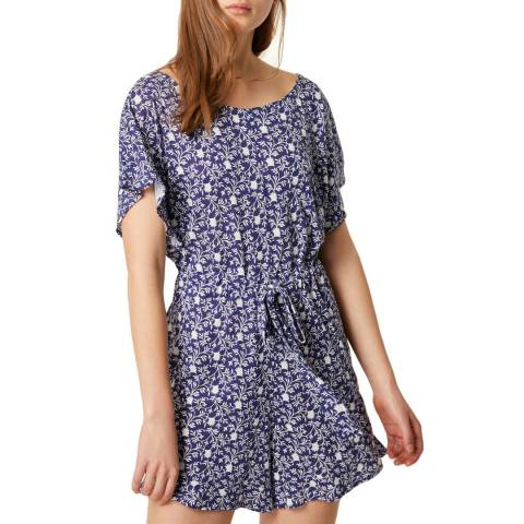 French Connection Navy/White Mollara Meadow Playsuit