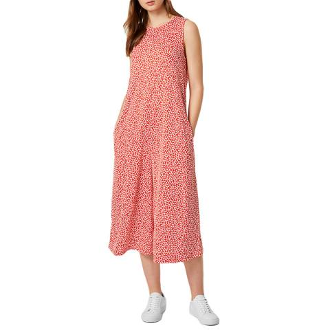 French Connection Red/White Elao Manhatten Culotte Jumpsuit