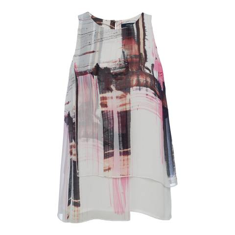 French Connection Multi Cornell Sheer Sleeveless Top