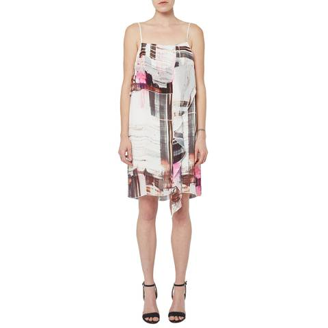 French Connection Multi Cornell Sheer Party Dress