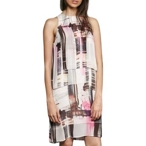 French Connection Multi Cornell Sheer Sleeveless Block Print Dress