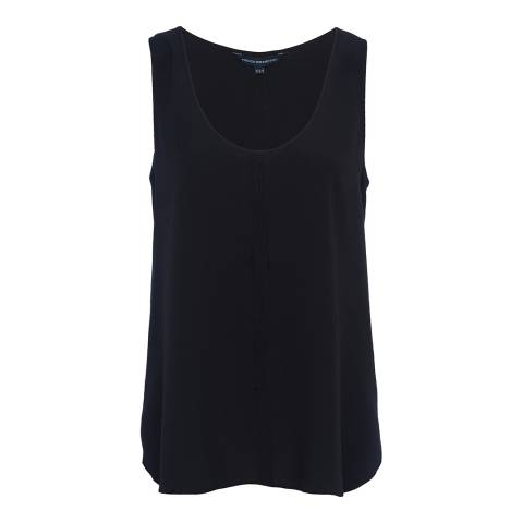 French Connection Navy Clee Crepe Light Top