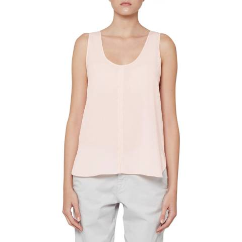 French Connection Pink Clee Crepe Light Top