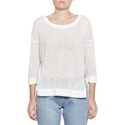 French Connection White Max Mix Jumper