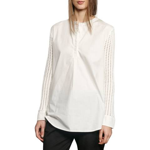 French Connection White Crotchet Shirt
