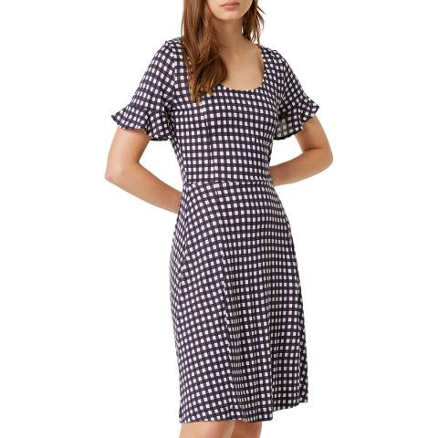 French Connection White/Blue Gingham Meadow Dress