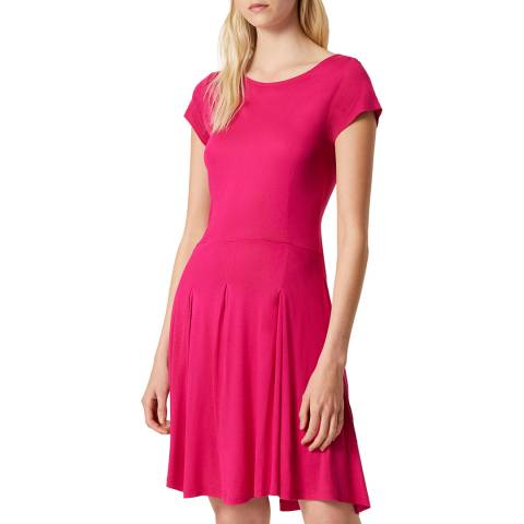 French Connection Red Meadow Fit And Flare Dress