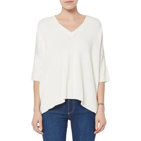 French Connection White Bea Broderie Jumper