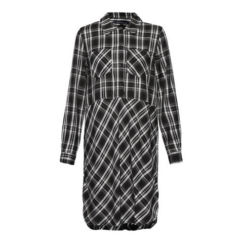 French Connection Black/White Darla Check Shirt Dress