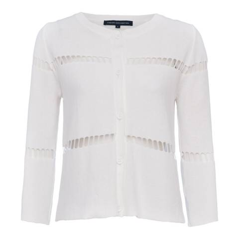 French Connection White Milano Mozart Cardigan