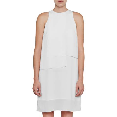 French Connection White Cornell Solid Shift Dress