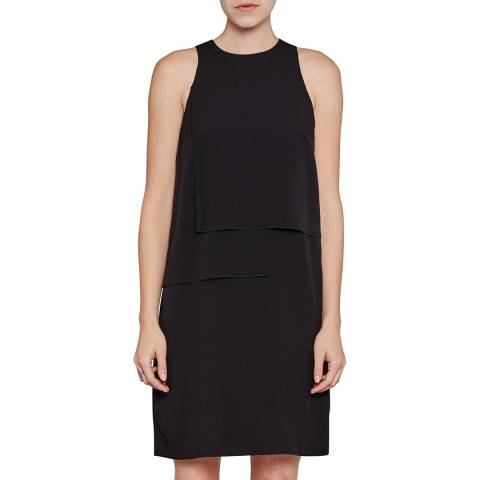French Connection Black Cornell Solid Shift Dress