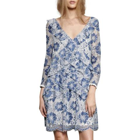 French Connection Blue Antonia Lace Dress