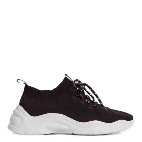 IRO Black Aerialrunner Stretch Knit Sneaker