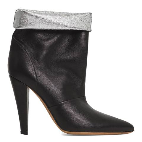 IRO Black Leather Avina Ankle Boot