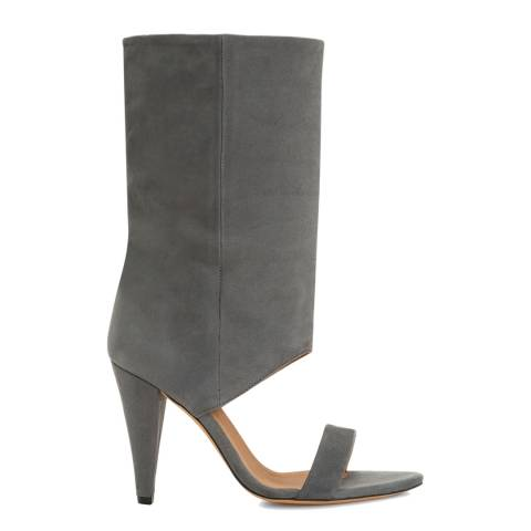 IRO Light Grey Leather Dixon Ankle Boot