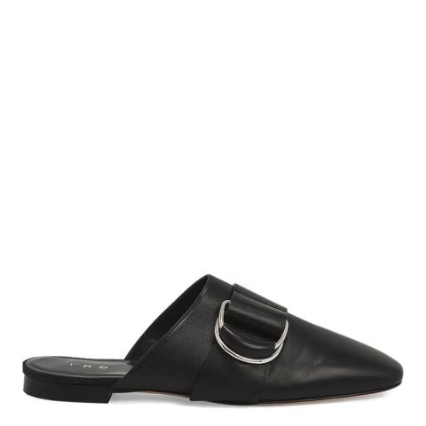 IRO Black Leather Met Mules