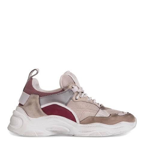 IRO White/Burgundy Curve Runner Sneaker