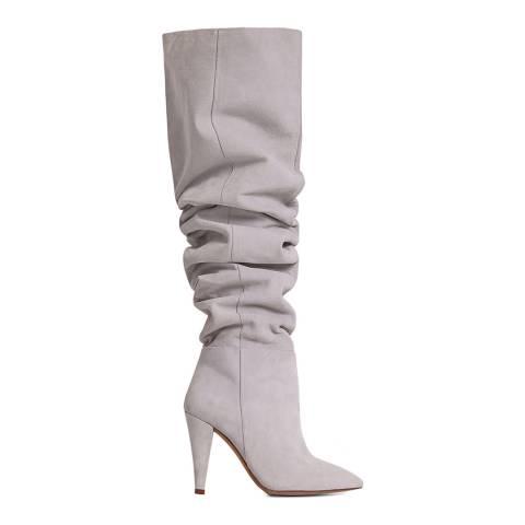 IRO Chalk Suede Navarro High Knee Boot